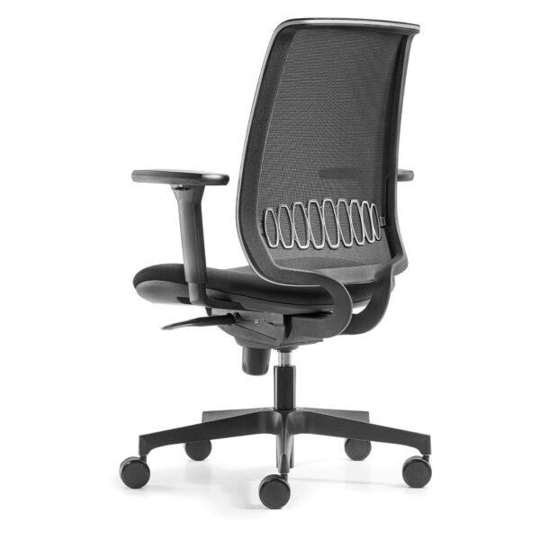 офис стол черен с лумбална опора